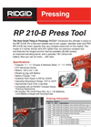 RP 210-B - Press Tool Catalog Sheet